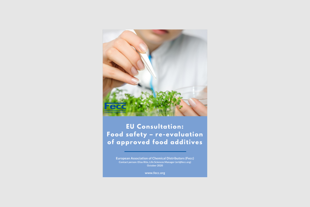 EU Consultation: Food safety – re-evaluation of approved food additives