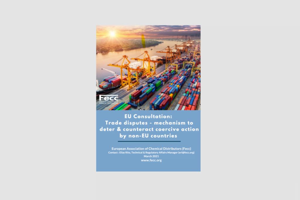 EU Consultation: Trade disputes – mechanism to deter & counteract coercive action by non-EU countries