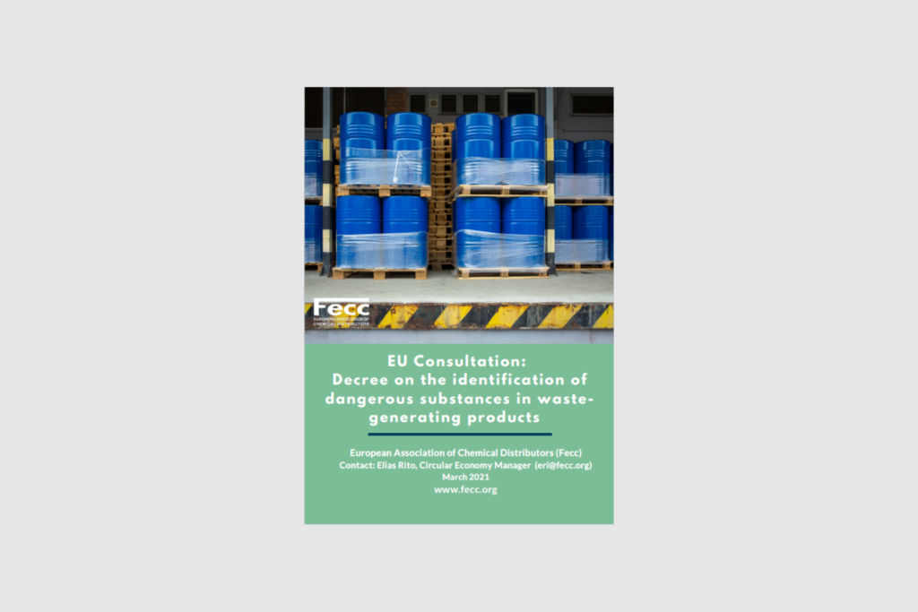 EU Consultation: Decree on the identification of dangerous substances in waste-generating products