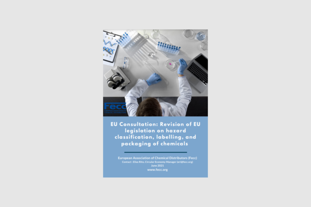 EU Consultation: Revision of EU legislation on hazard classification, labelling, and packaging of chemicals